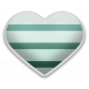 The Good Life- June Elements- Sticker Striped Heart 5