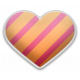 The Good Life- June Elements- Sticker Striped Heart 6