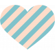 The Good Life- June Elements- Striped Heart 1