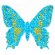 The Good Life Sept Elements- Glitter Butterfly Blue