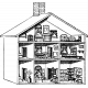 Family Traditions- Stamps- House