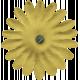 Flower Power Elements Kit- Fabric Flower Yellow