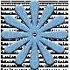 The Good Life- November Elements- Chipboard Flower Blue