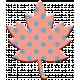 The Good Life- November Elements- Chipboard Leaf Pink