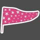The Good Life: January 2019 Elements Kit- Flag Sticker Stars