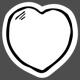 The Good Life: February Elements- Sticker Heart 4