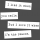 The Good Life: February Words & Tags- Smile Word Strip