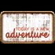 Wild Child Elements- Word Art Tag Textured Adventure
