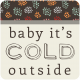 Birds In Snow Elements Kit #2: tag- baby it's cold outside