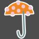 Umbrella Weather- Elements- Sticker Umbrella 03