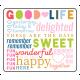 The Good Life: April 2019 Words & Tags Kit- good life words tag