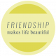 1000 Words & Tags Kit: Tag friendship makes life beautiful
