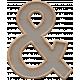 Templates Grab Bag Kit #23: wood ampersand template