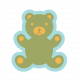 The Good Life: October 2019 Tags & Stickers Kit- sticker teddy bear