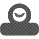 October 31 Words & Labels Kit: tab bat