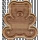 The Good Life- October 2019 Elements- Wood Teddy Bear