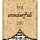 The Good Life- November 2019 Elements- Wood Label Wonderful Life