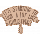 The Good Life: December 2019 Christmas Elements Kit- letterpress look like christmas