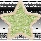 The Good Life: December 2019 Christmas Elements Kit- glitter star green