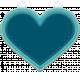 The Good Life: December 2019 Hanukkah Elements Kit- rubber heart teal