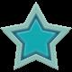 The Good Life: December 2019 Hanukkah Elements Kit- rubber star teal