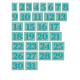 The Good Life- December 2019 Numbers (1-31) Kit- Teal
