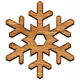 The Good Life- December 2019 Elements- Wood Snowflake