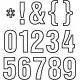 Alpha Template Kit #50 - Alpha Template 50 numbers