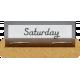 Clear Calendar Tabs Kit- clear tab saturday