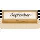 Clear Calendar Tabs Kit- clear tab september