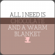 The Good Life- January 2020 Lables & Words- Chocolate & Blanket