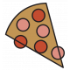 The Good Life- February 2020 Tags & Stickers- Sticker Pizza