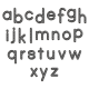 Alpha Template Kit #51 Lowercase