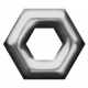 Eyelet Templates Kit - Eyelet hexagon 1 template