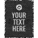 Burlap Word Tags Kit - Template 2