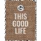 Burlap Word Tags Kit- this good life