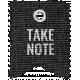 Burlap Word Tags Kit- take note