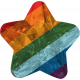 The Good Life: June 2020 Mini Kit- plastic star rainbow