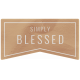 The Good Life: September 2020 Elements Kit word simply blessed
