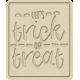 The Good Life- October 2020 Mini Kit- letterpress trick or treat