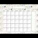 The Good Life- November 2020 Calendars- Calendar 8.5x11 Blank