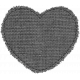 Templates Grab Bag #34- Medium Burlap Mat Heart Template
