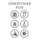 The Good Life- December 2020 Christmas B&W Pocket Cards- JC 08 3x4