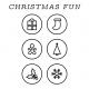 The Good Life- December 2020 Christmas B&W Pocket Cards- JC 08 4x4