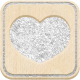 The Good Life: December 2020 White Christmas Elements- Square Heart