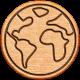 World Traveler Bundle #2- Neutral Elements- Neutral Wood Globe