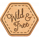 World Traveler Bundle #2- Neutral Elements- Neutral Wood Wild And Free Badge