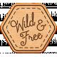 World Traveler Bundle #2- Neutral Elements- Neutral Wood Wild And Free Badge