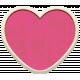 Summer Lovin_Heart-pink dk