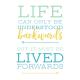 Good Life April 21_Journal me-Wordart-Life Lived Forward-4x4